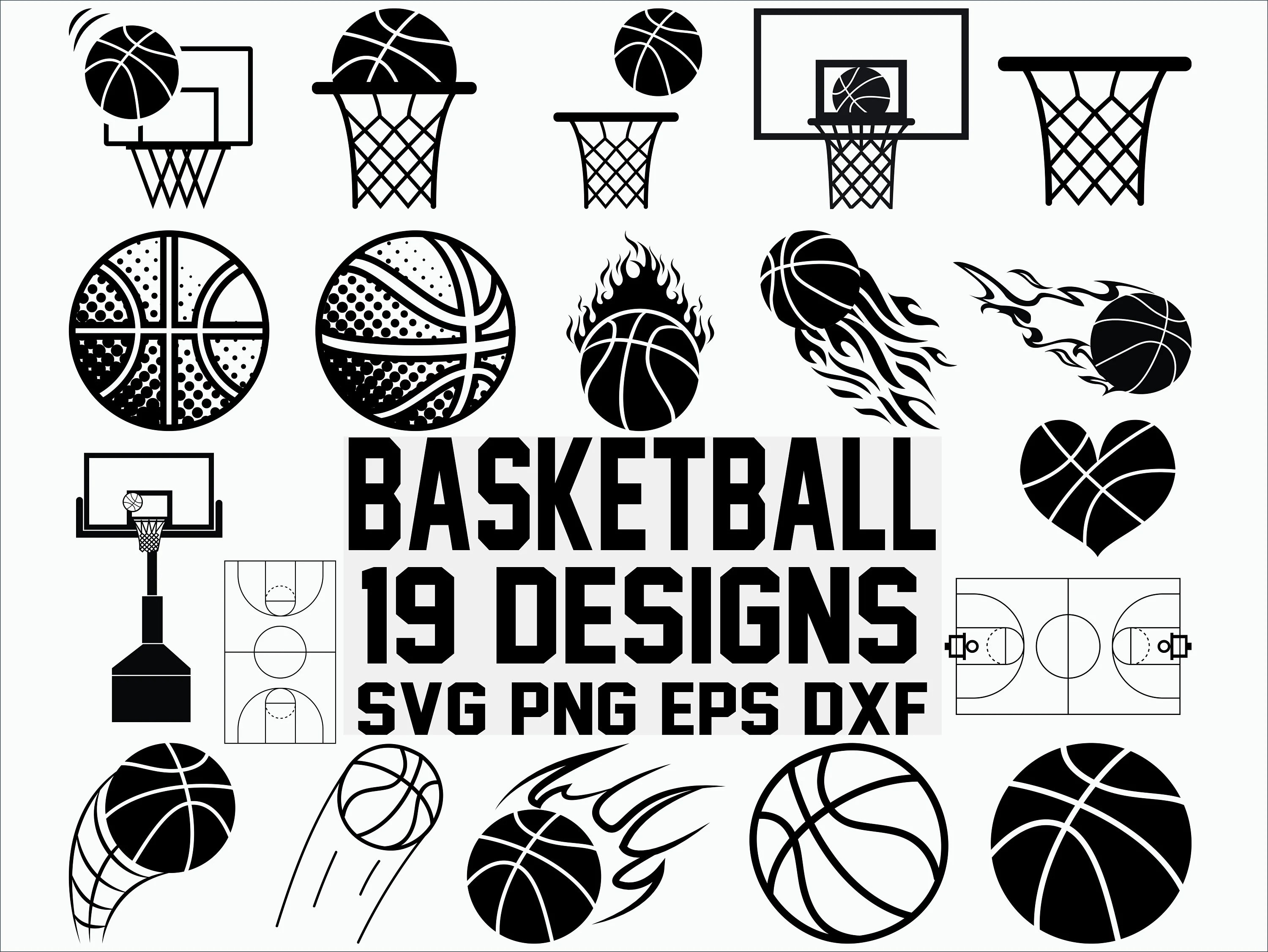 Basketball Svg Sports Svg Basketball Court Svg Clipart