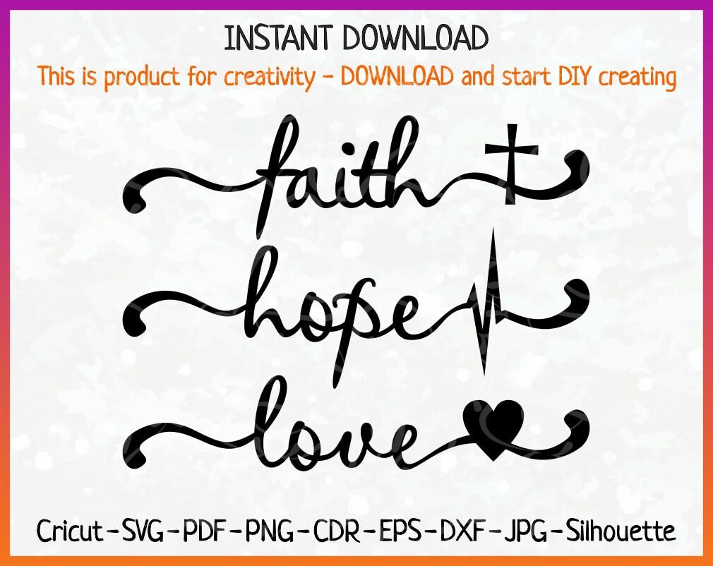 Download Faith Hope Love svg Faith Hope Love SVG Faith Hope Love | Etsy