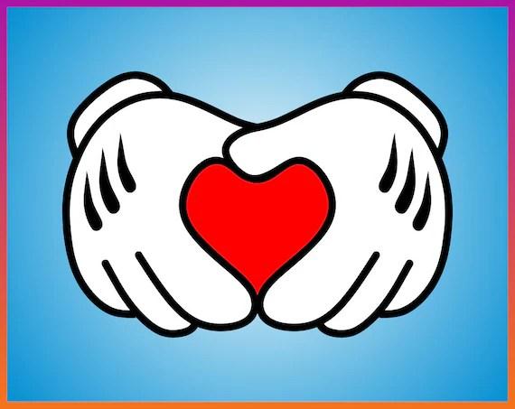 Download Mickey Heart Hands SVG Disney svg Mickey Love SVG Love | Etsy