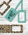 Luggage Tag Pattern Svg Dxf Png Template For Cricut Etsy