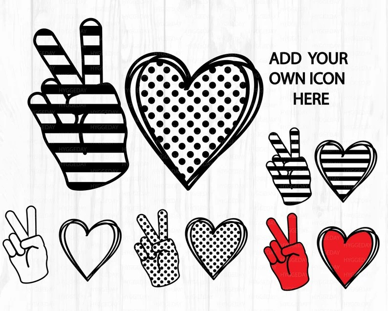 Download Peace Love Bundle Svg Png Dxf Create your own Peace Love ...