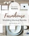 Farmhouse Wedding Mockup Bundle Mock Up Bundle Country Etsy