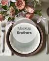 Wedding Menu Mockup Menu Card Mock Up Dish Mockups Etsy