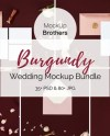 Burgundy Wedding Mockup Bundle Mock Up Bundle Luxury Etsy