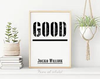 jocko willink poster etsy