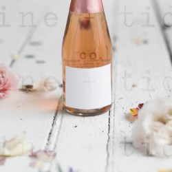 Wine Bottle Mockup Wedding Favor Stock Photo Jpeg Mockup Etsy