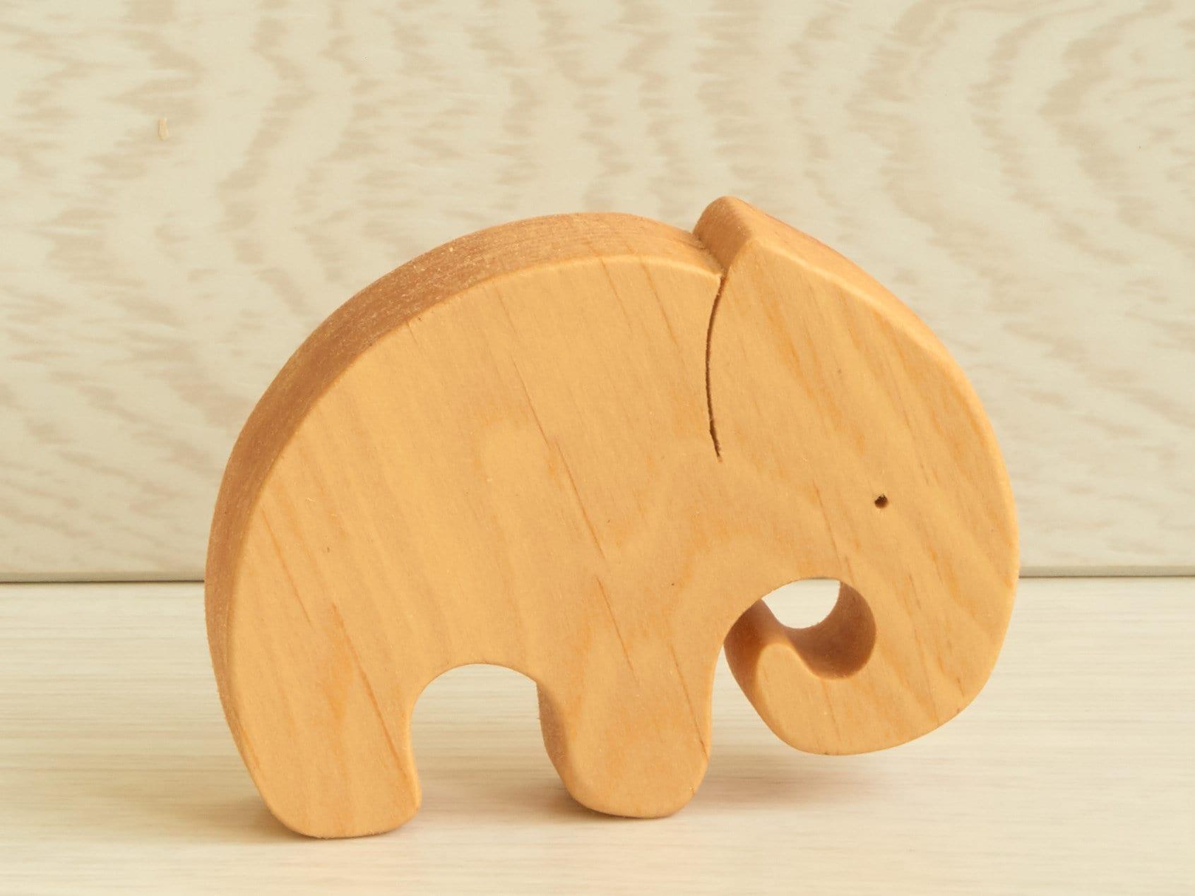 Wooden Toy Set Baby Animal Play Set Organic Wood Toys image 2