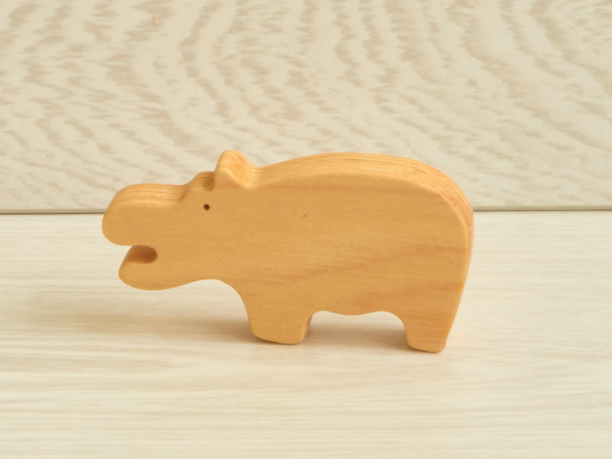 Wooden Toy Set Baby Animal Play Set Organic Wood Toys image 5