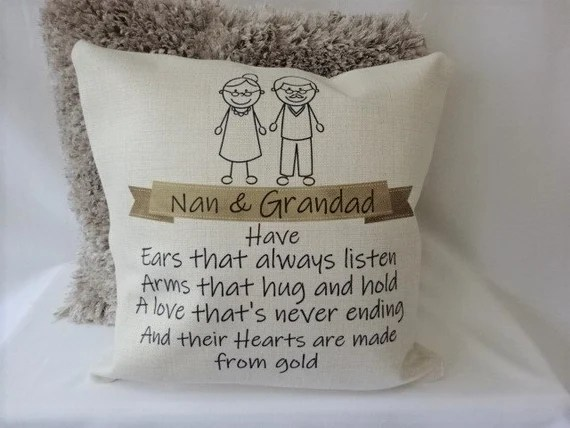 Personalised Nan & Grandad Cushion