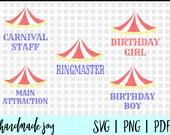 Circus svg bundle, Ringmaster svg, circus svg, circus party svg, circus party svg file, circus cut file, cricut, silhouette