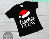Teacher crew svg, christmas svg, christmas cut file, CHristmas teacher svg, christmas svg files, teacher gift ,  teacher svg