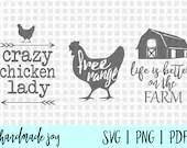 Farm svg bundle, farm svg, chicken lady svg, chicken svg, life on farm svg, chocken lady svg file, farm cut files, farm svg files, svg files
