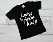 farm kid, svg, svg file, farm family, lucky farm kid, cricut file, farm life, farm kid shirt design, svg files, svg files for cricut,