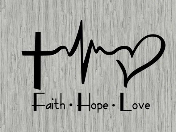 Download Faith Hope Love Heartbeat svg faith svg christian svg cut ...