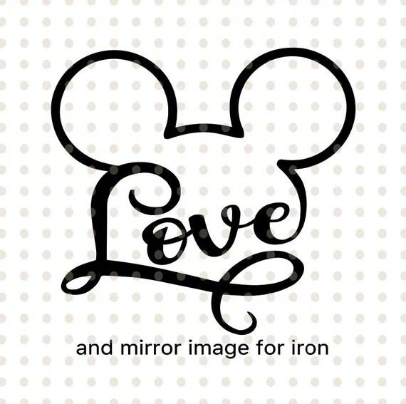 Download Disney svg love disney svg love mickey svg love mickey   Etsy