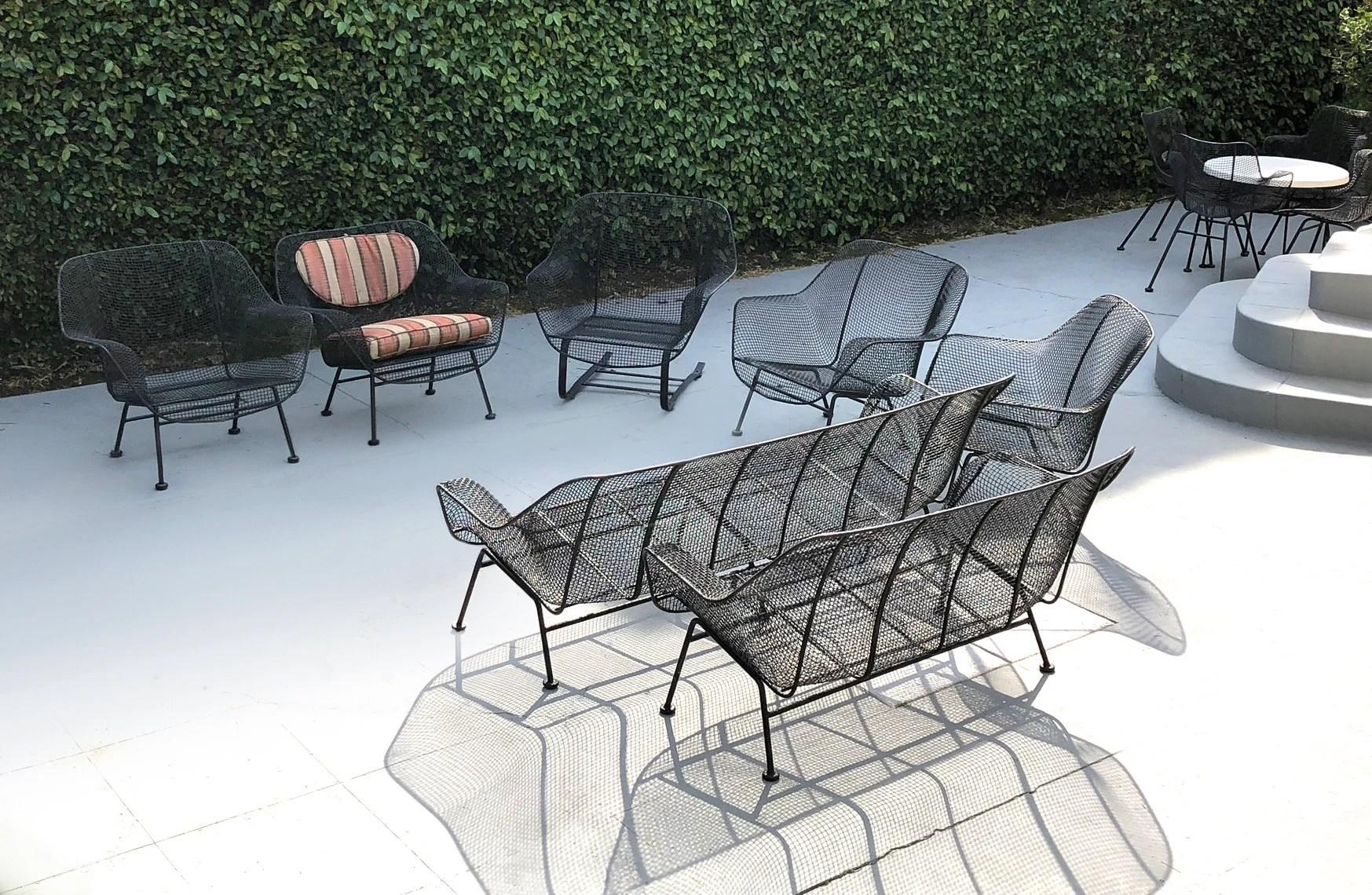 russell woodard sculptura patio set etsy