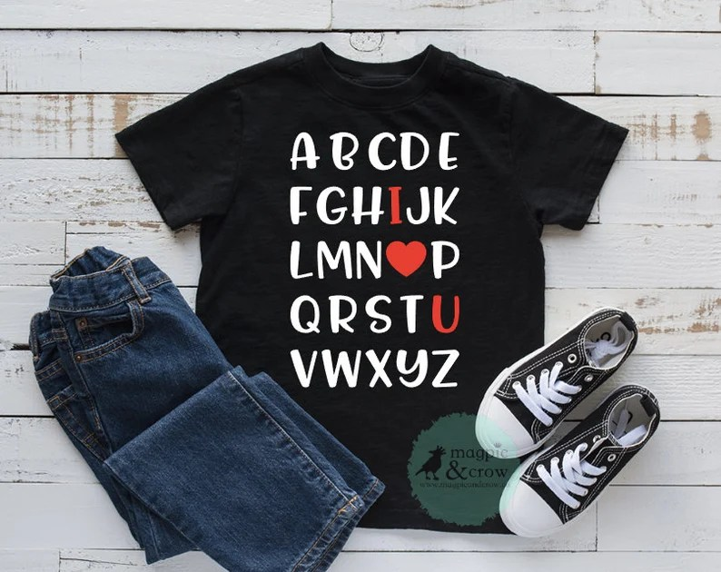Download Love Alphabet SVG Valentine's Day SVG I Love You Svg   Etsy