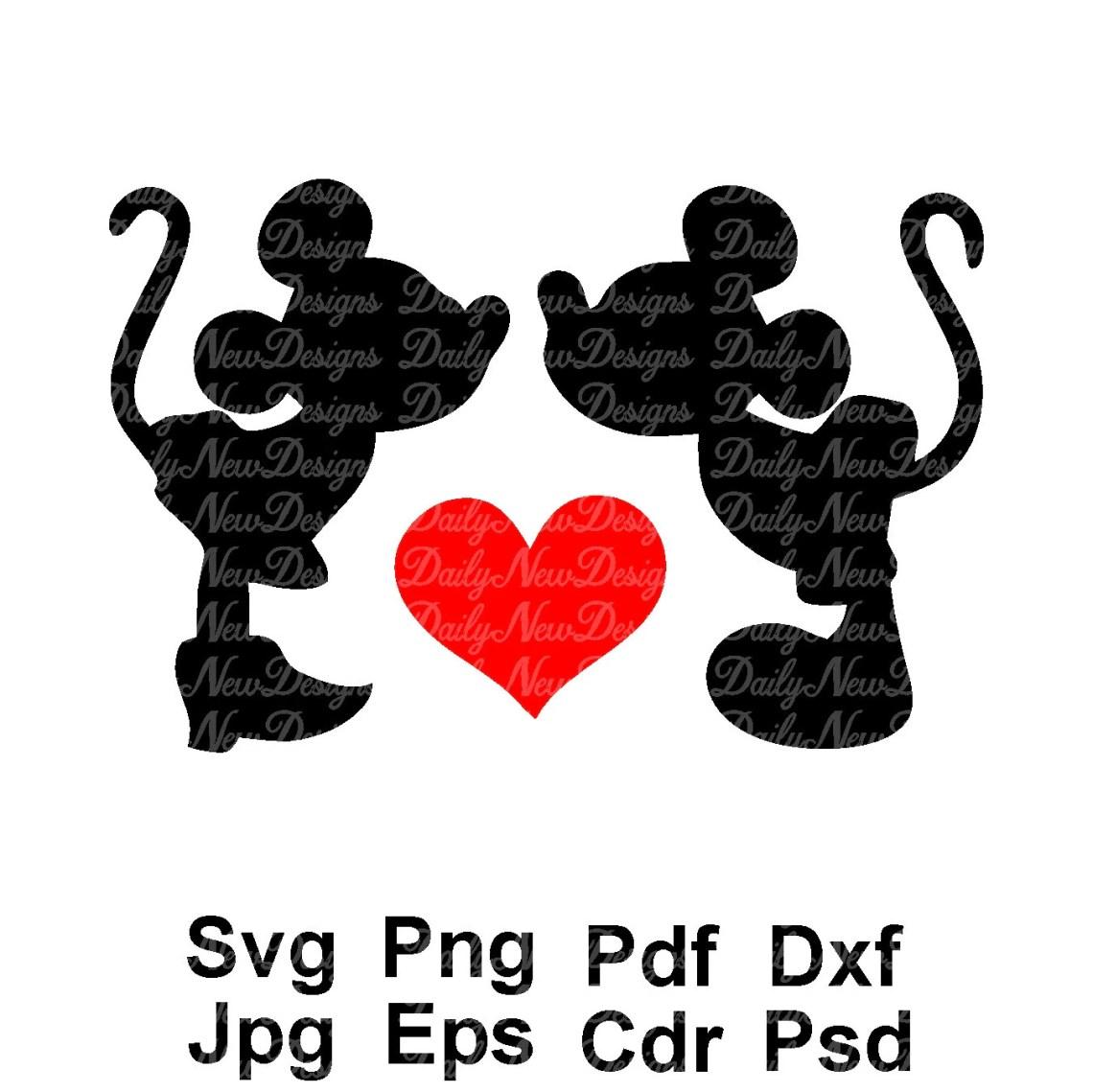Download SVG Mickey Minnie Love Disney Kiss Disney Heart Disneyland ...