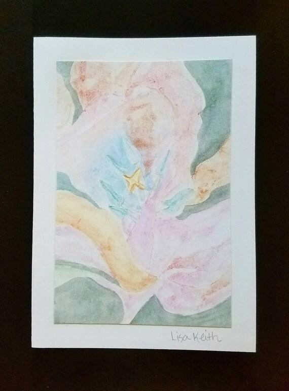 Fine Art 5 x 7 Greeting Card Featuring Original | Etsy