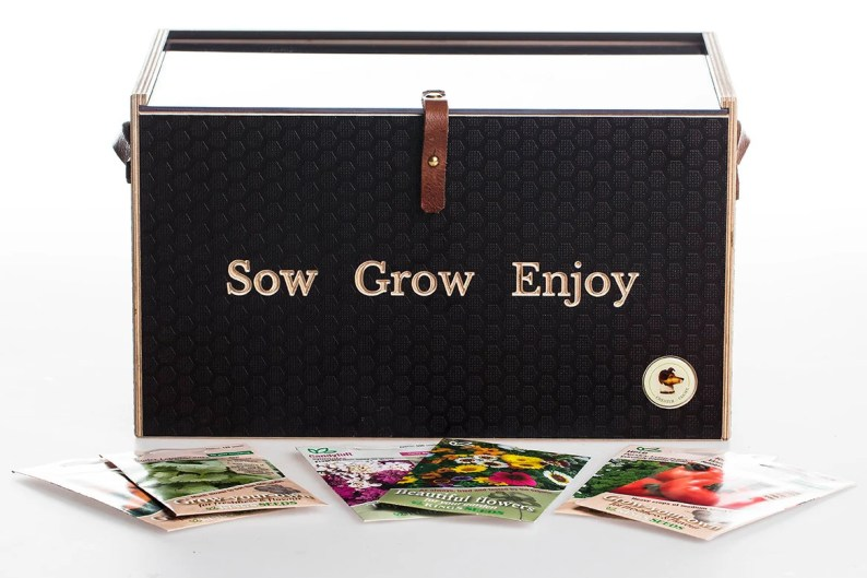Quality Engraved Wooden Seed Box By ChesterandCooke