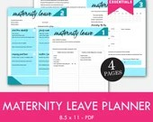 Maternity Leave Planner, Pregnancy, Instant Printable, Unlimited Prints, ARC System, Binder Planner