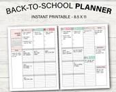 School Planner 2021-2022, Student Planner, Printable Planner