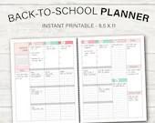 School Planner 2020-2021, Student Planner, Printable Planner
