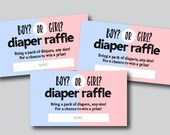 Diaper Raffle Tickets, Gender Reveal, Boy or Girl, Instant Download, Unlimited Prints