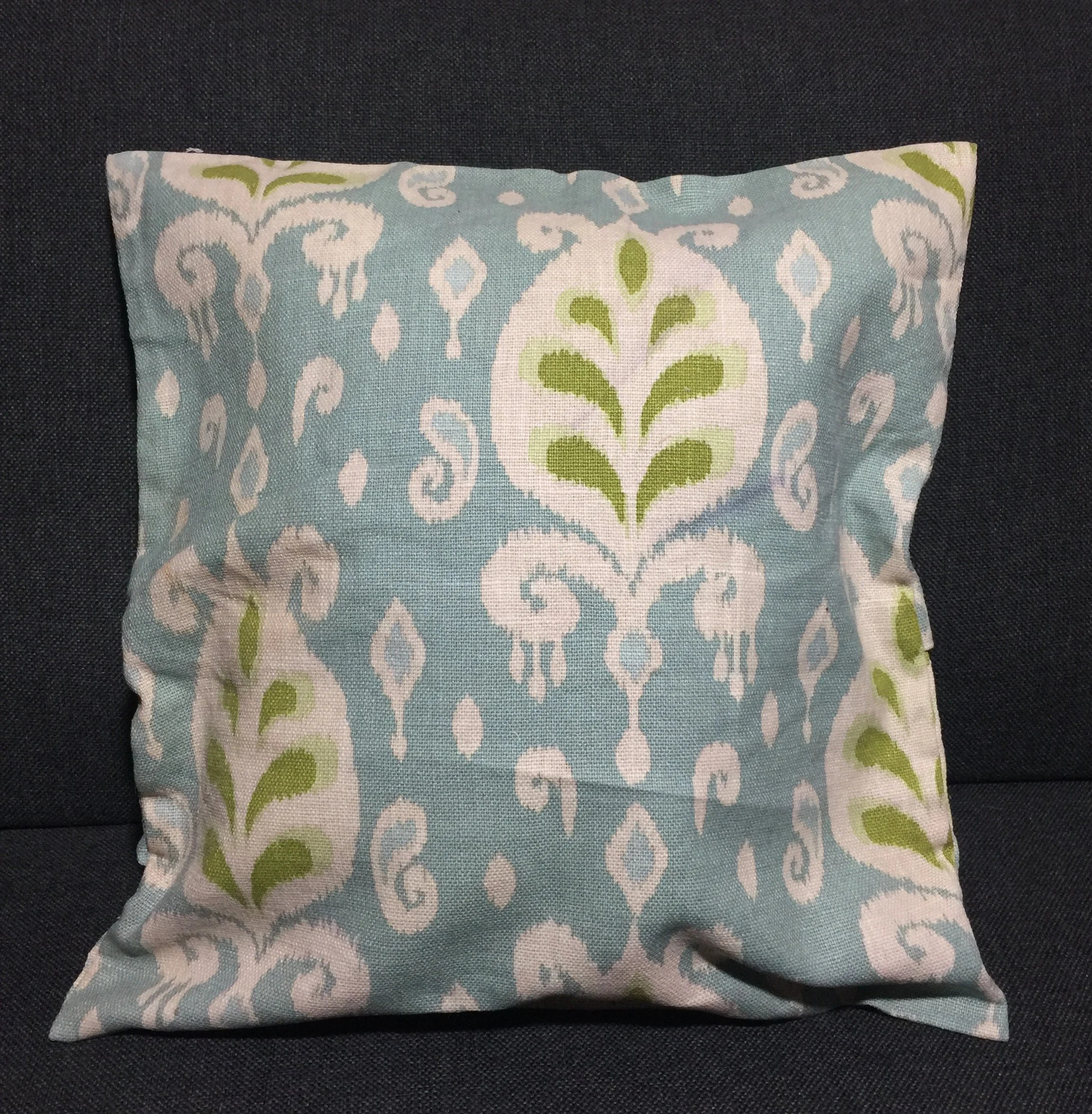Pastel Blue Linen Pillowcase Blue Boho Pillows For Couch Etsy