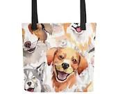 Shelter Dog Tote bag, Dog Mom, Rescue Dogs, Dog Lover, Reusable tote bag, Dog Tote, Dog Fashion Bag