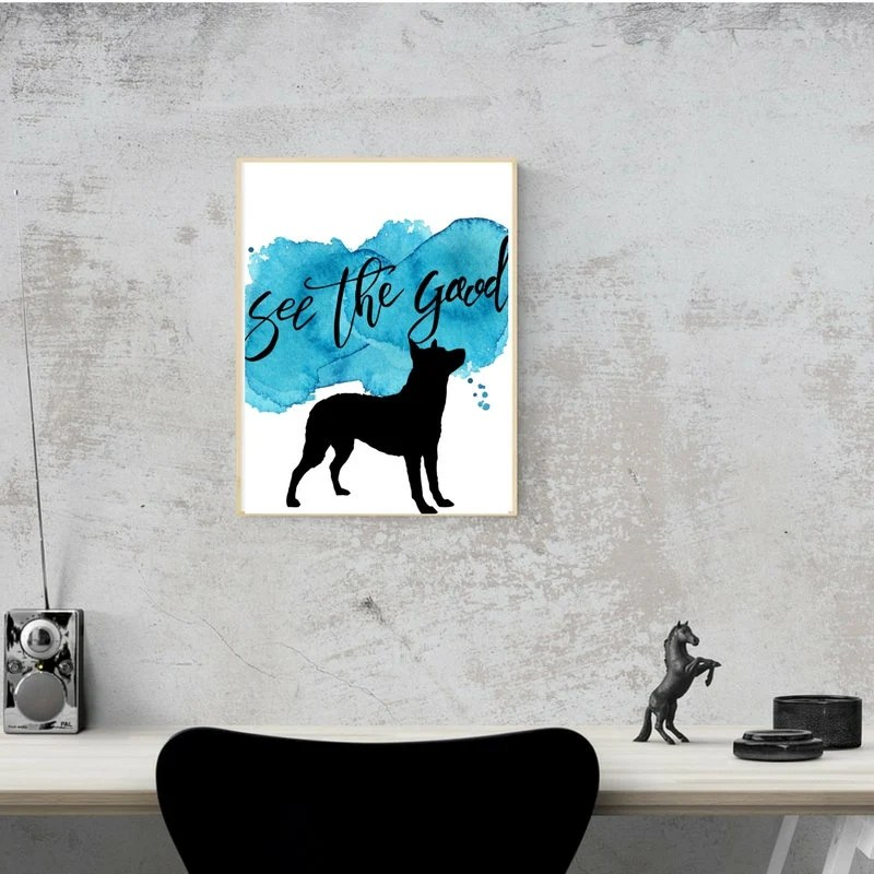 See the Good Dog Printables, Watercolor Art, Australian Cattle Dog, German Shepard | Front Seat Ryder