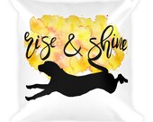 Hound Throw Pillow, Decorative Pillow, Dog Decor, Dog Accent Pillow, Gifts for Dog Owners, Hound Dog