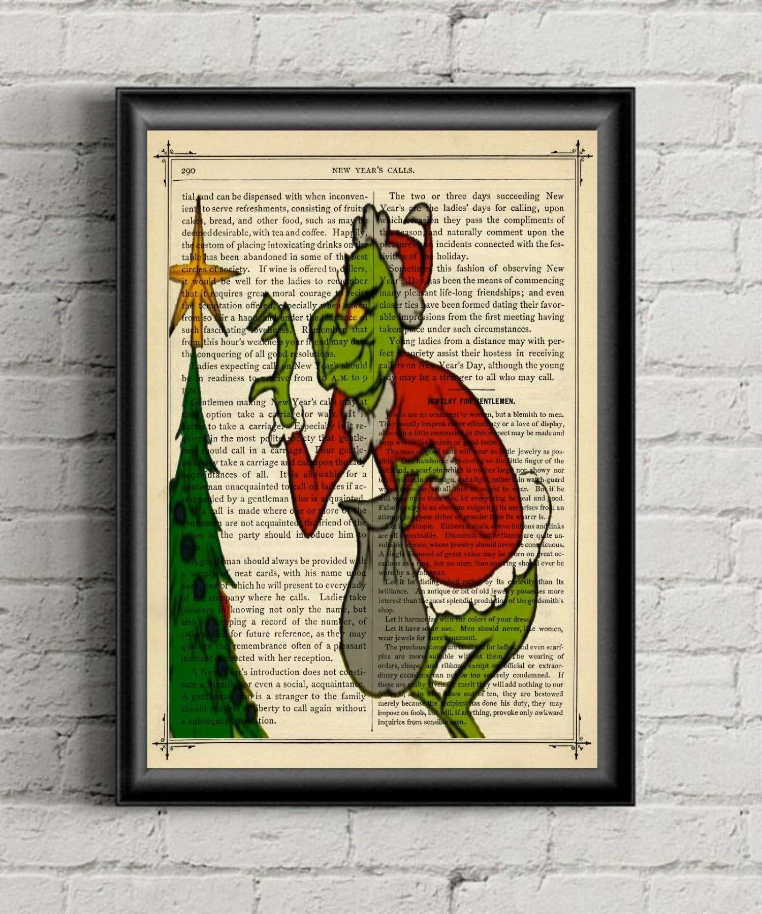 Grinch Print Printable Grinch Stole Christmas Art