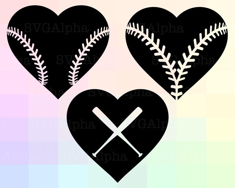 Download Baseball Love SVG Love Baseball Cricut Baseball Heart | Etsy