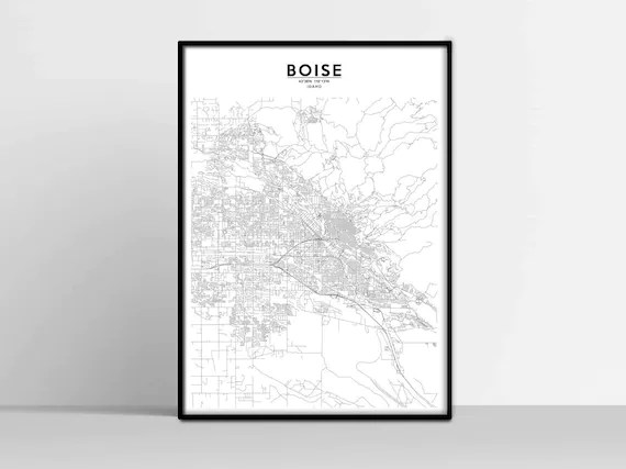 The map legend often also has a scale to help the map reader gauge dista. Boise City Map Idaho Map Print Usa Us Map Download United Etsy