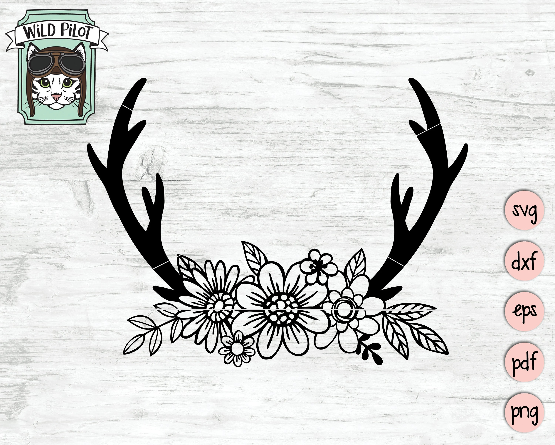 And Bow Black Horns White Deer