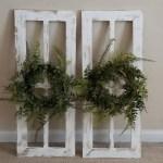 Antique Window Frame Farmhouse Wreath Farmhouse Window Etsy