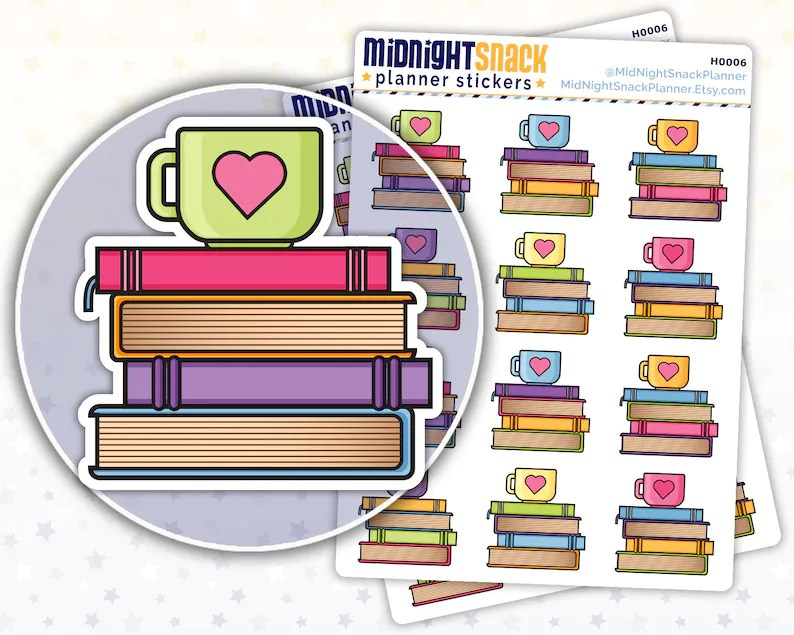 Reading Planner Stickers  Book Club Icon Stickers  Books