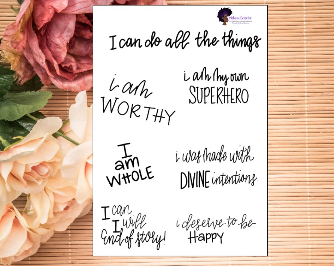 Positive Affirmation Stickers For Planners Journals