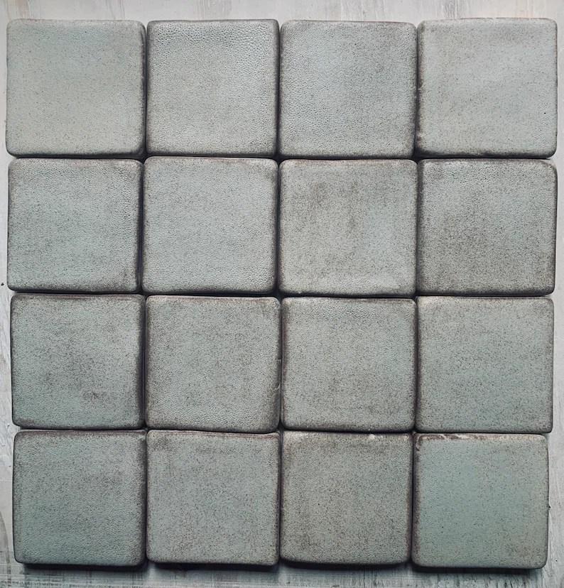 3x3 handmade ceramic tile backsplash bathroom or kitchen tile 1 sq ft fireplace tile michigan tile laundry room entryway