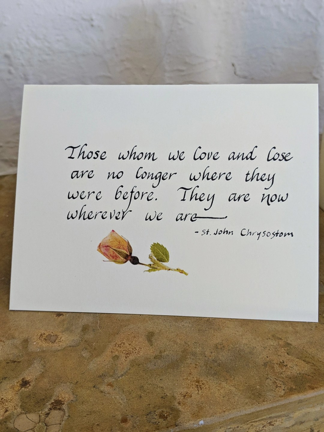 Calligraphy thinking of you card/Christian greeting cards/ care and comfort/ hand lettered card/ notecards/ Christian note cards/