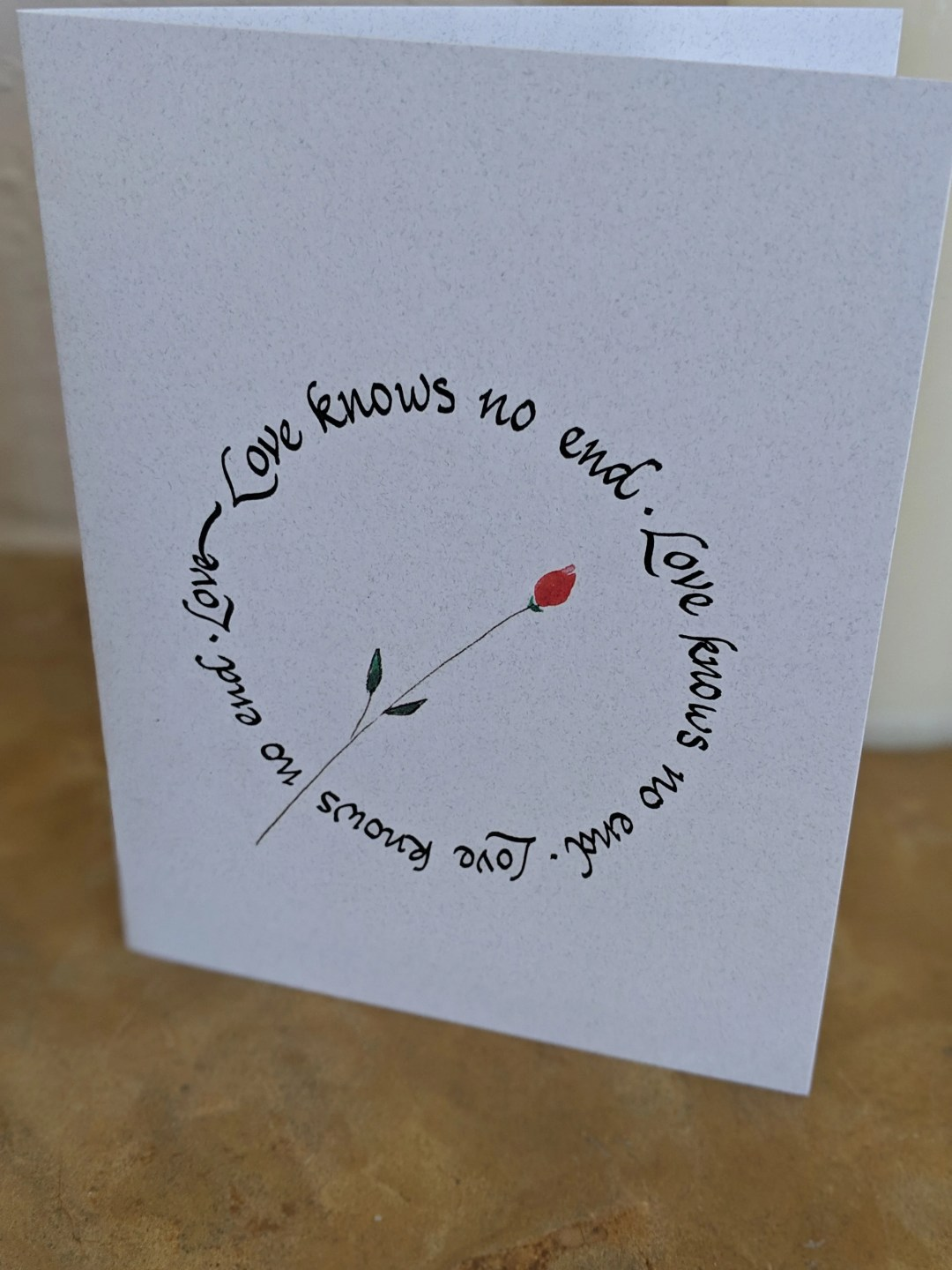 Love note card/ wedding card/ anniversary card/Valentine card/ love greeting card/hand calligraphied card/hand lettered greeting cards/