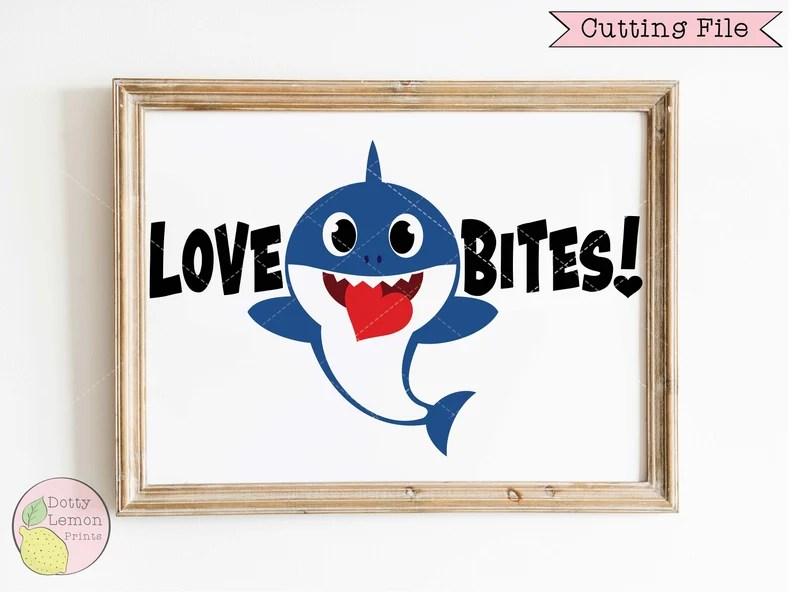 Download Baby Shark Valentine SVG Heart Valentines Day svg Love ...
