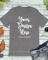 Dark Heather Gray Unisex Women T Shirt Mock Up Bella Canvas Etsy