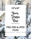 Winter Garden Flag Mockup Psd File Add Your Own Image And Etsy