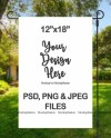 Garden Flag Mockup Psd File Add Your Own Image And Etsy