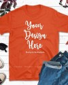 Gildan 64000 Orange Shirt Mock Up Fall Tshirt Mockup Styled Etsy