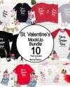 Valentine Tshirt Mockup Bundle Valentine S Day Shirts Etsy