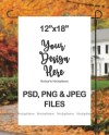 Fall Garden Flag Mockup Psd File Add Your Own Image And Etsy