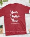 Christmas T Shirt Mock Up Gildan Red 64000 Tshirt Flat Lay Etsy